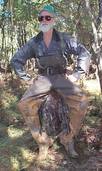Avid Chest Waders with mud accents